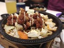 Japanese cuisine. Japanese bento set Royalty Free Stock Images