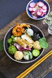 Japanese bento bowl lunch stock images