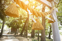 Japanese big rope in new year day named `Shime-Nawa`. Festival in Japan concept stock photo