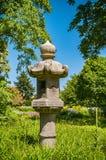 Japanese bird feeder in garden. Royalty Free Stock Photos