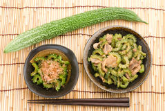 Japanese bitter melon dish Stock Images