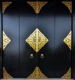 Japanese black doorway asakusa, senso-ji temple Royalty Free Stock Images