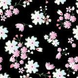 Japanese blossoms pattern royalty free illustration
