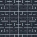 Japanese blue maze line pattern. Japanese maze line pattern on blue background vector illustration