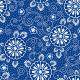 Japanese blue pattern Stock Photos