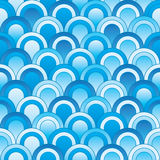 Japanese Blue Style Seamless Pattern_eps Stock Photography