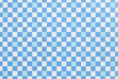 Japanese blue white checkered pattern paper texture background. Japanese blue white checkered pattern vintage paper texture background Stock Image