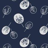Japanese blue white fan, iris and bellflower pattern Royalty Free Stock Photos