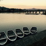 Japanese boats in Kyoto Royalty Free Stock Photo