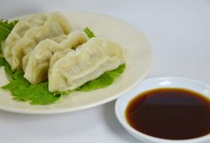 Japanese boiled Dumplings Royalty Free Stock Photography