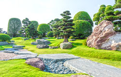Japanese bonsai garden in Vietnam Royalty Free Stock Image