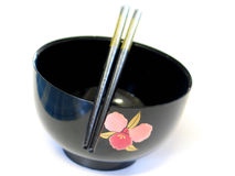 Japanese Bowl. Japanese soup bowl Royalty Free Stock Photos