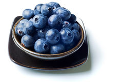 Japanese bowl with blueberries Stock Image