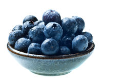 Japanese bowl with blueberries Stock Images
