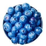 Japanese bowl with blueberries isolated Stock Photo