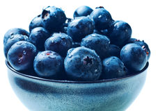 Japanese bowl with blueberries isolated Stock Photography