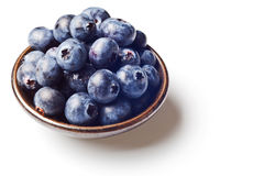 Japanese bowl with blueberries isolated Royalty Free Stock Photo