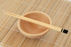 Japanese Bowl and Chopsticks Royalty Free Stock Image