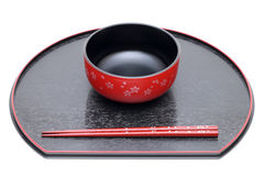 Japanese bowl and chopsticks Royalty Free Stock Photography