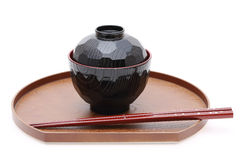 Japanese bowl and chopsticks Royalty Free Stock Images
