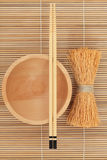 Japanese Bowl Chopsticks and Whisk Stock Photography