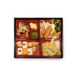 Japanese Box Lunch Bento set of prawn tempura in japanese restau. Rant Royalty Free Stock Photos