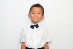 Japanese boy in formal dress Stock Photos