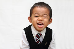 Japanese boy in formal dress Royalty Free Stock Photography