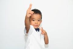 Japanese boy in formal dress Royalty Free Stock Image