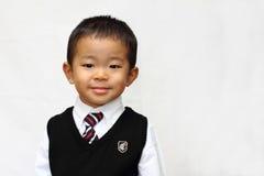 Japanese boy in formal dress Royalty Free Stock Photos