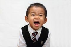 Japanese boy in formal dress Stock Photo