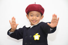 Japanese boy in school uniform Stock Photo