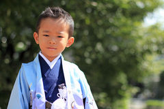 Japanese boy at Seven-Five-Three festival Royalty Free Stock Image