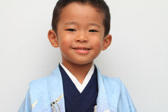 Japanese boy at Seven-Five-Three festival Stock Image