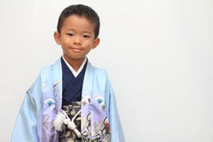 Japanese boy at Seven-Five-Three festival Royalty Free Stock Photos