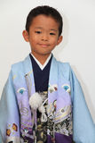 Japanese boy at Seven-Five-Three festival Stock Photo
