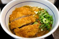 Japanese breaded deep fried pork cutlet (tonkatsu) Stock Image