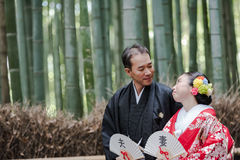 Japanese Bridal Couple Stock Photo
