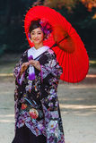 Japanese bride at Korakuen Royalty Free Stock Image
