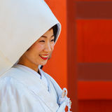 Japanese Bride in Osaka, Japan Stock Photo