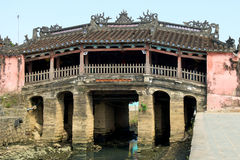 Japanese Bridge. In Hoi An, Vietnam Stock Photos