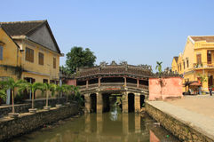Japanese Bridge. In Hoi An, Vietnam royalty free stock photo