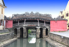 Japanese Bridge  (Cau Chua Pagoda) in Hoi An, Vietnam Stock Images