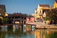 Japanese bridge at Hoi An Royalty Free Stock Images