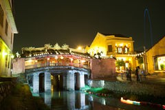 Japanese Bridge. In Hoi An stock photos