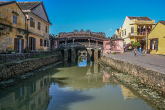 Japanese bridge in hoi an ancient town,vietnam Stock Image