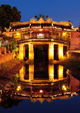 Japanese Bridge in Hoi An at night, Vietnam Stock Photography