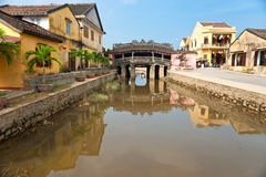 Japanese Bridge in Hoi An. Vietnam. Unesco World Heritage Site royalty free stock photography
