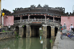 The Japanese Bridge in Hoi An, Vietnam Royalty Free Stock Photos