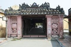 Japanese Bridge, Hoian Vietnam. Front of Japanese Covered Bridge. Hoian, Vietnam Stock Image